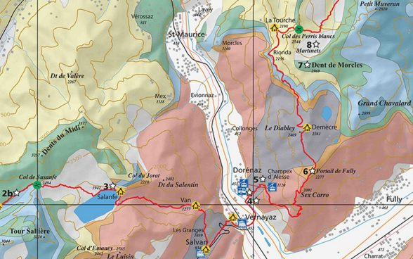 Via GeoAlpina: Les Diablerets map