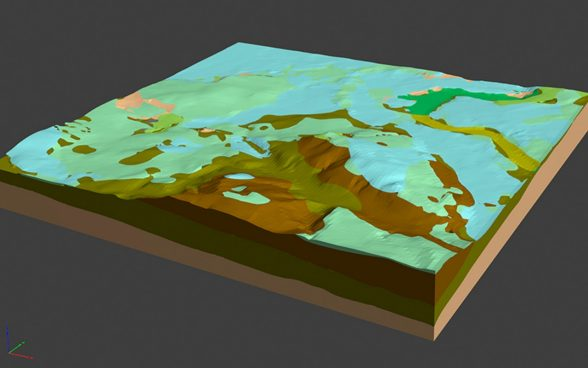 3D geological model of the Bern region
