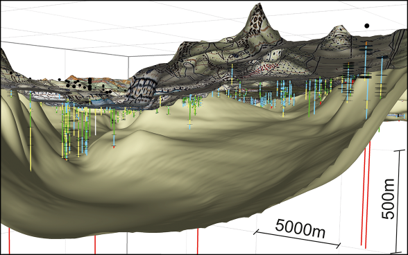 3D cross-section of the Birrfeld region