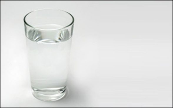 Geology everyday life: a glass of water