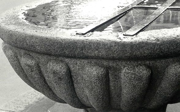 Fountain made of Aare Granite