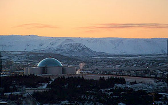 Hot water storage tanks in Iceland