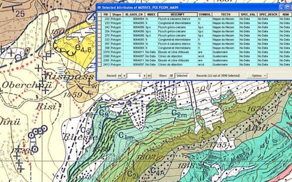 Cartina Geografica Canton Ticino Svizzera.Cartografia Geologica